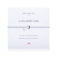 Joma Jewellery A Little BABY GIRL Silver Plated Beaded Bracelet